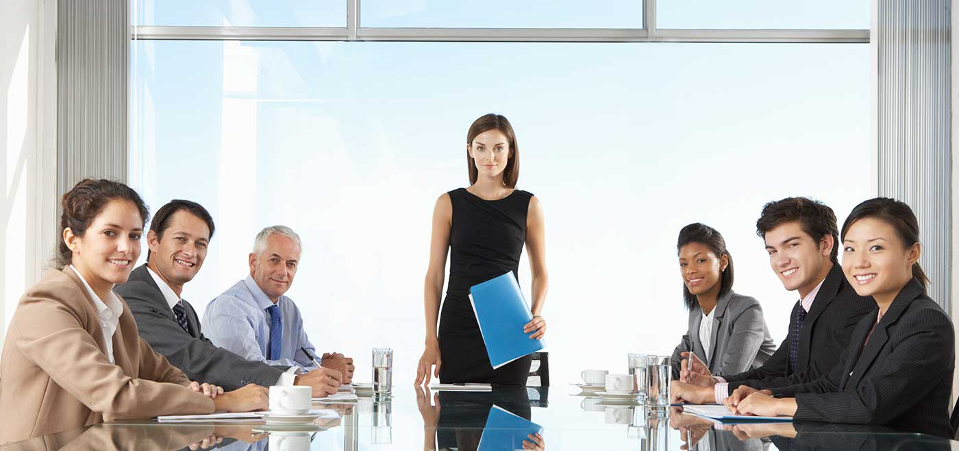 executives sitting at a conference table