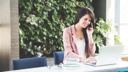 women on phone with sales recruiting firm in Atlanta GA